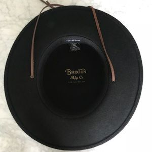 Brixton Accessories - Brixton Black Felt Tiller Wide Brim Fedora Hat